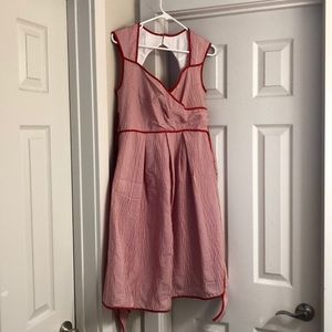 vintage inspired red and white dress